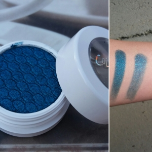 Super Shock Shadow: Coconot, Left swatch: Finger, Right swatch: Brush
