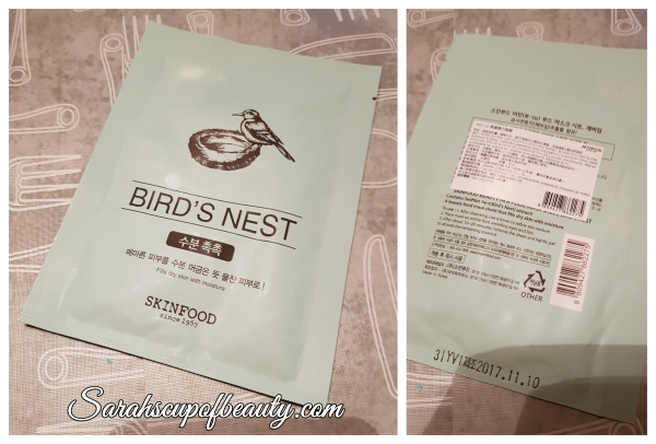 sheet mask skinfood bird's nest